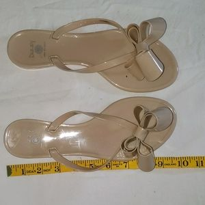 Dizzy sandals light pink with Exaggerated bow